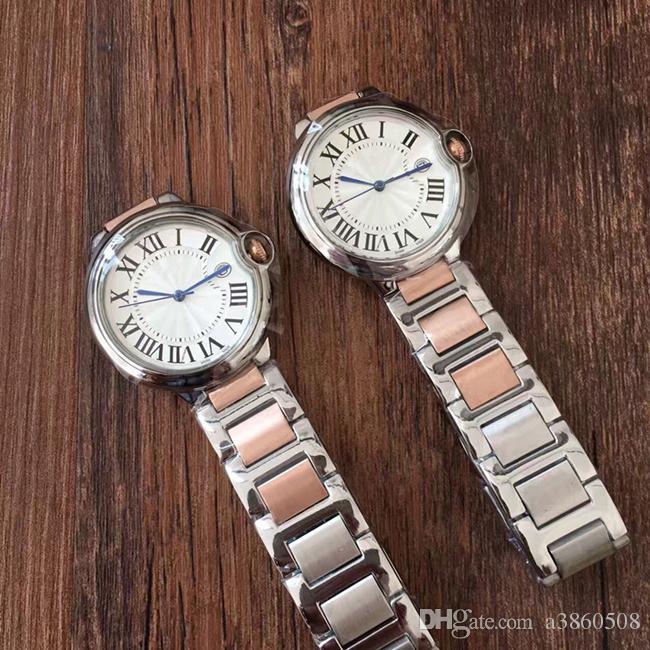 Fashion Lady relógios de quartzo elegante vestido de Mulher Assista Relógio famosos Rosegold de aço inoxidável de ouro Relógios de pulso