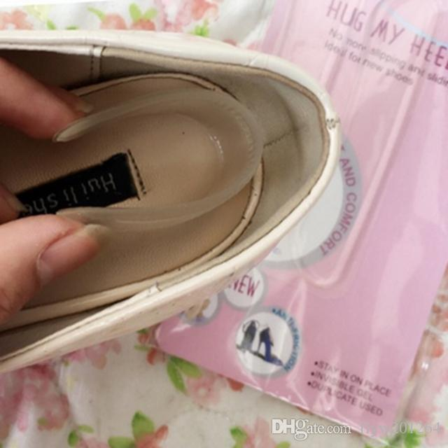 Wholesale Silicone gel Heel Grips for shoes prevent friction High Heel Shoe Insole Inserts Pads Back Liner Shoe Boot Cushion