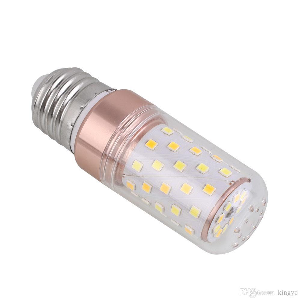 SMD2835 E14 / E27 LED Corn Light Bulbs Lamp 8W 12W 16W Christmas White Transparent Lampshade Three Colors Led Bulb Lampada Led