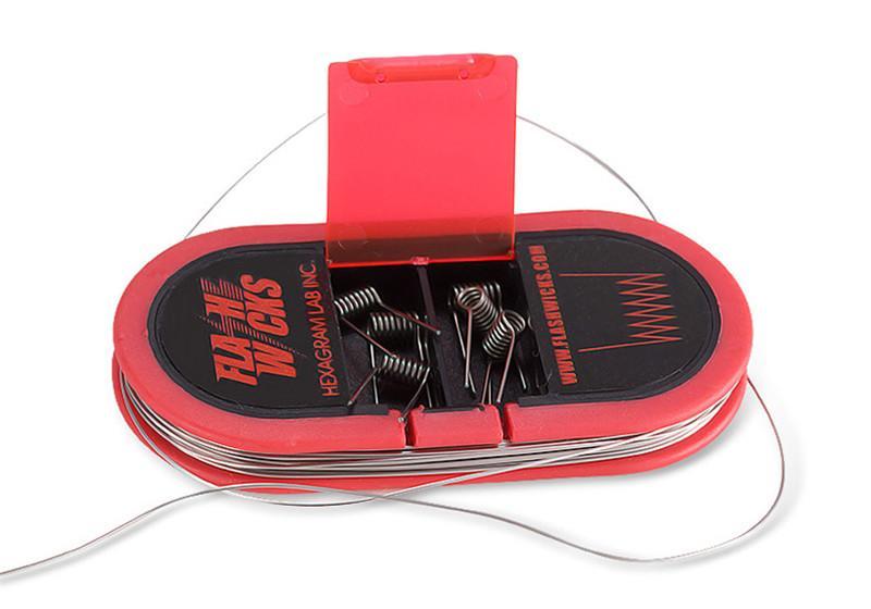 Original auténtico Flashwicks Cable de calefacción 0.09 ohmio Cinta de algodón Cable de resistencia Resistencia ultra baja DIY e-cigs VS VCC F5 BACON DE ALGODÓN