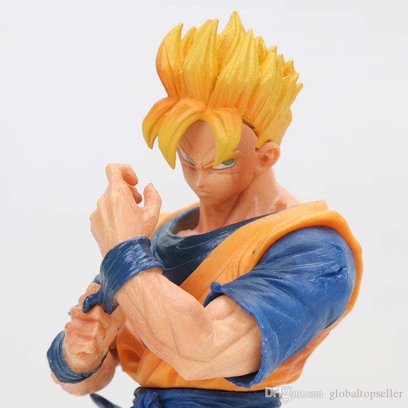 Figura de acción de Dragon Ball Z Resolución de soldados ROS Super Saiyan Gohan del futuro PVC modelo de juguete Figurals DBZ Vol.6