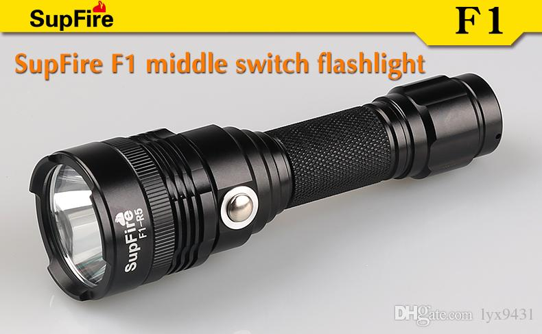 LED FLashlight 18650 Rechargable Battery Middle Switch Waterproof Super Bright 5 Modes Outdoor Sports Handy Torch Hiking Fishing Daily Using