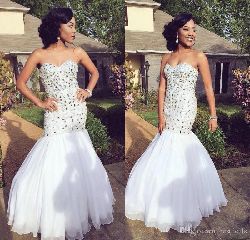 Awesome White And Silver Prom Dresses Images - Styles & Ideas 2018 ...