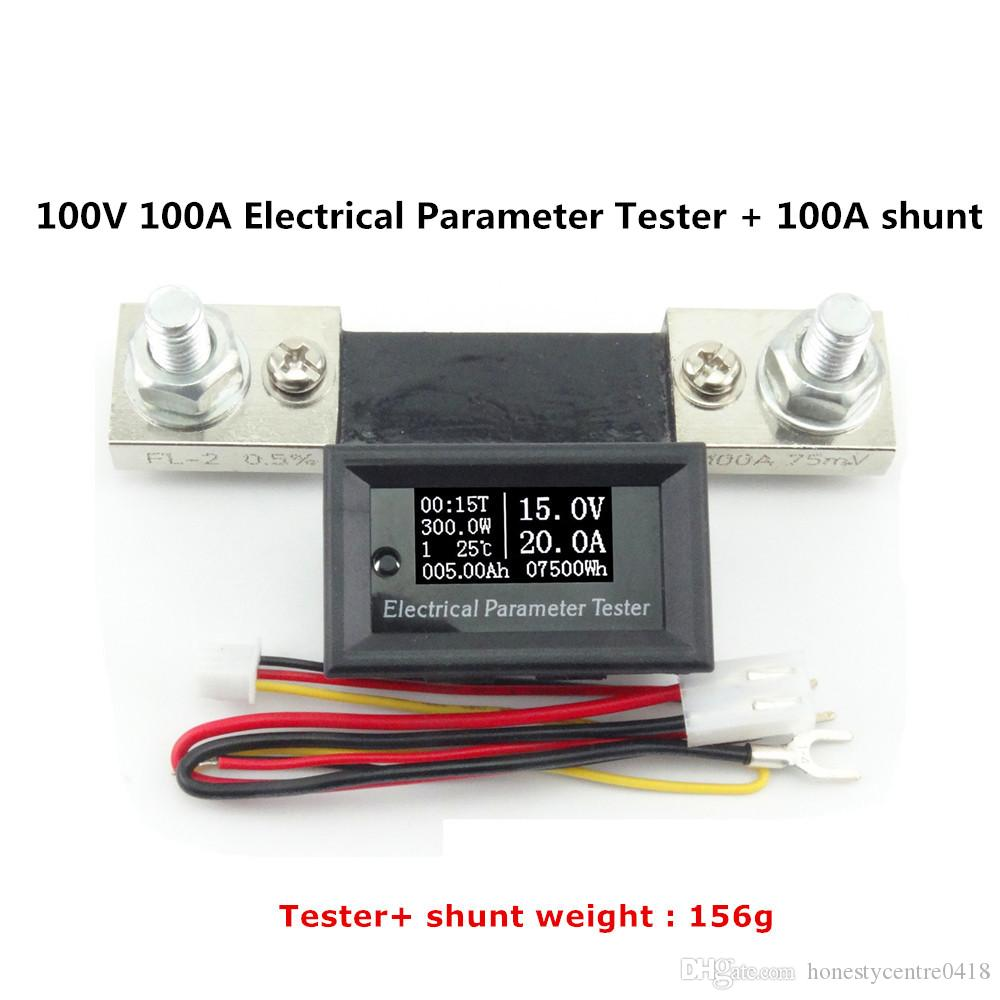 Dc 100v 100a Digital Electrical Ammeter Voltmeter Current And ...
