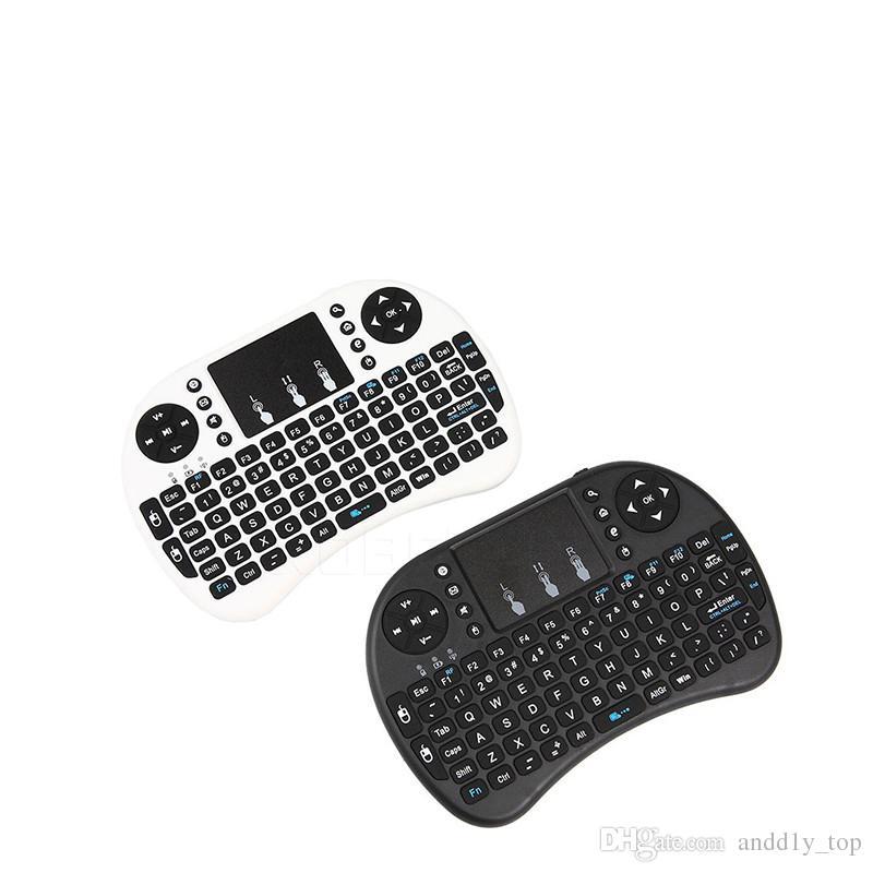 Mini tastiera wireless RII I8 2.4GHz Air Mouse Tastiera Telecomando Telecomando Touchpad Android Box TV 3D gioco Tablet PC