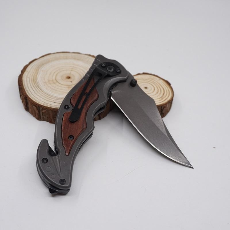 Tactical Folding Knife Pocket Survival Knives Steel Blade Titanium Wood Handle Outdoors Huntting knife Fishing EDC Tool