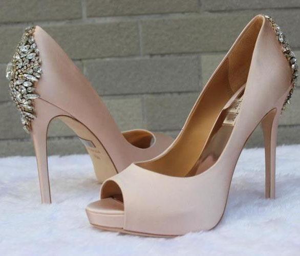 2017 Burgundy/Blue/Nude/Green/White Wedding Shoes Heels Silk ...