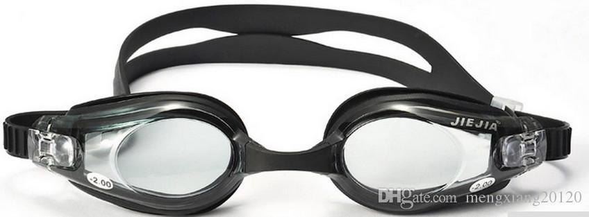 Jiejia профессиональный близорукость плавательные очки для мужчин, анти-туман, водонепроницаемый, анти УФ, очки для плавания набор,