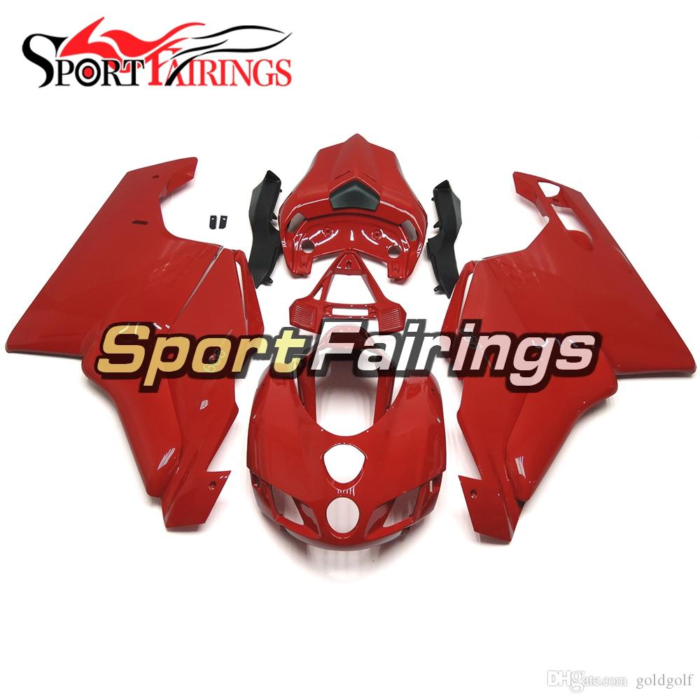 Kit de Carenagem de Injeção Vermelho Puro Para Ducati Monoposto 999 749 05 06 Ano 2005 2006 ABS Plástico Monoposto Carroçaria Panels Body Kit