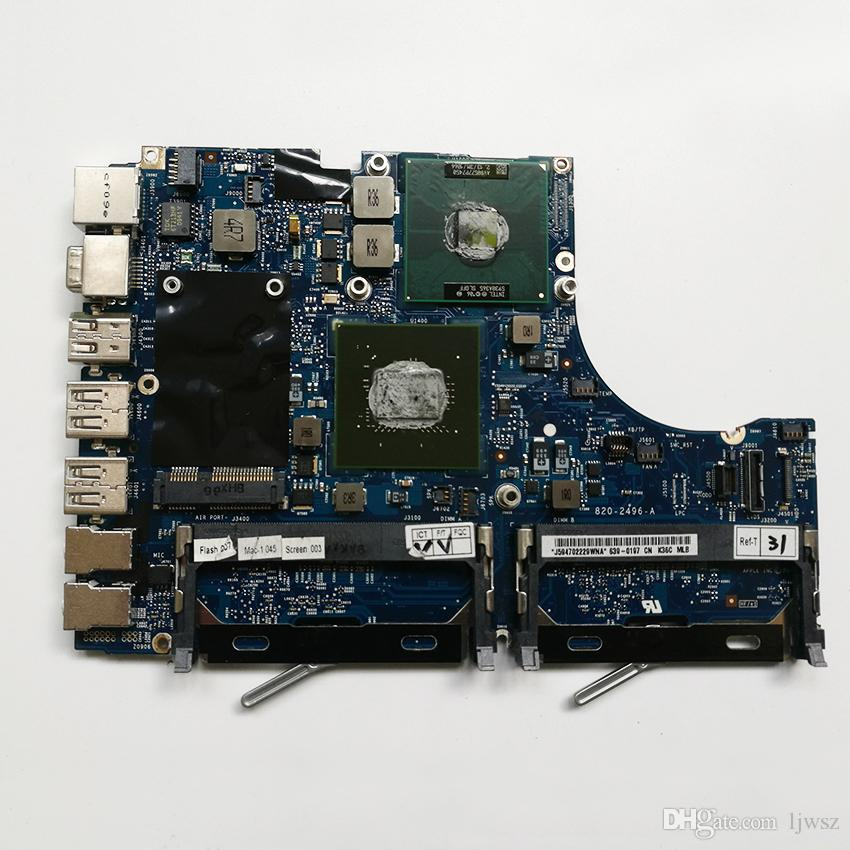 Original Motherboard 2.13 GHz Core 2 Duo Intel Logic Board 820-2496-A For Apple Macbook 13''A1181 MC240 2009