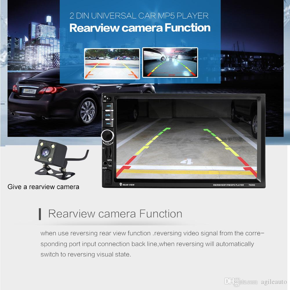 DHL 7 Inch 2 Din Bluetooth Auto Car Stereo MP5 Player GPS Navigation Mirror Link Rear View Camera & Steering Wheel Control CMO_21X