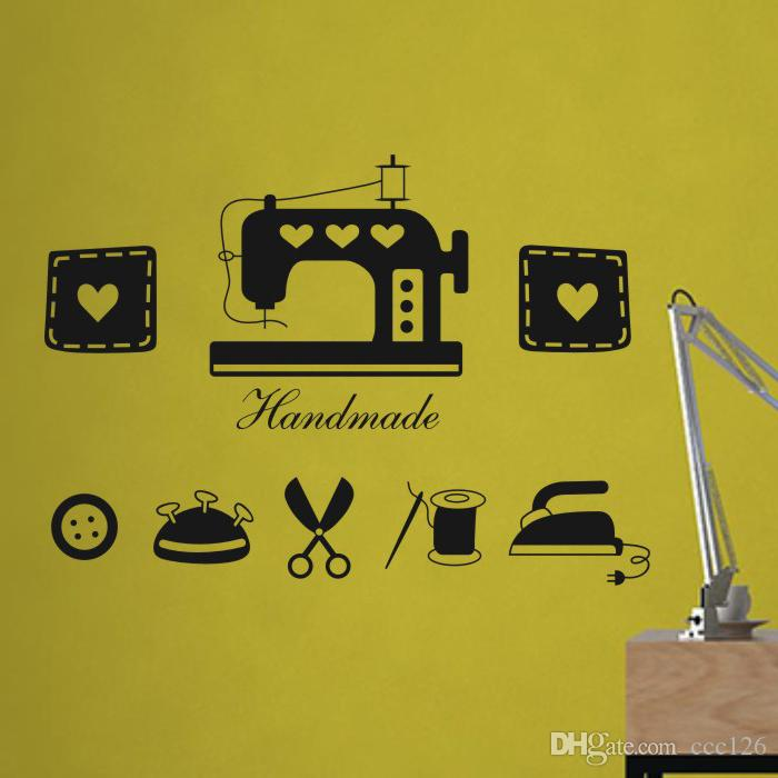 Vinyl Sewing Machine Store Wall Stickers Decoration Decor Home Decal ...