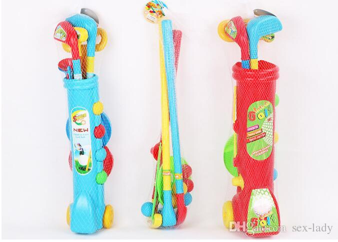 2017 New fitness golf children's toys indoor and outdoor competitive interactive sports toys Children Golf Set toy best Christmas Gift toys