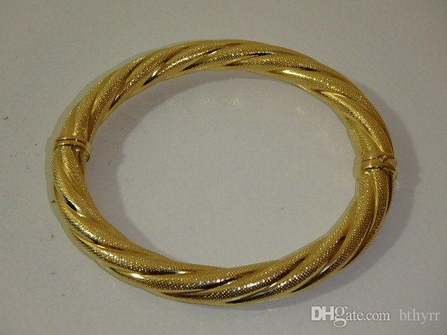p htm bangles solid oval gold bangle bracelet