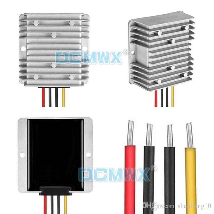 Convertisseurs de tension constante DCMWX® 24V à 28V automatique boost buck voiture onduleurs Entrée DC18V-36V sortie 28V1A2A3A4A5A6A étanche