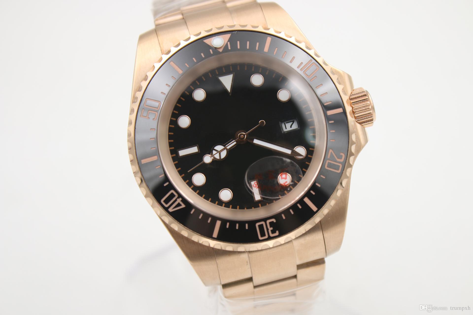 07debf4300cc Compre Famoso Reloj Automático De Los Hombres Populares Rose Gold Band Y  Skeleton Black Face Bisel De Cerámica Reloj Masculino Para Hombre Envío  Gratis A ...