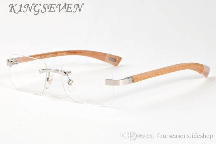 Nowy Moda Buffalo Horn Glasses 2020 Vintage Retro Okulary przeciwsłoneczne dla Męskie Drewniane Stubarwne Okulary przeciwsłoneczne Stojak Prostokąt Wyraźny obiektyw bezbarwny