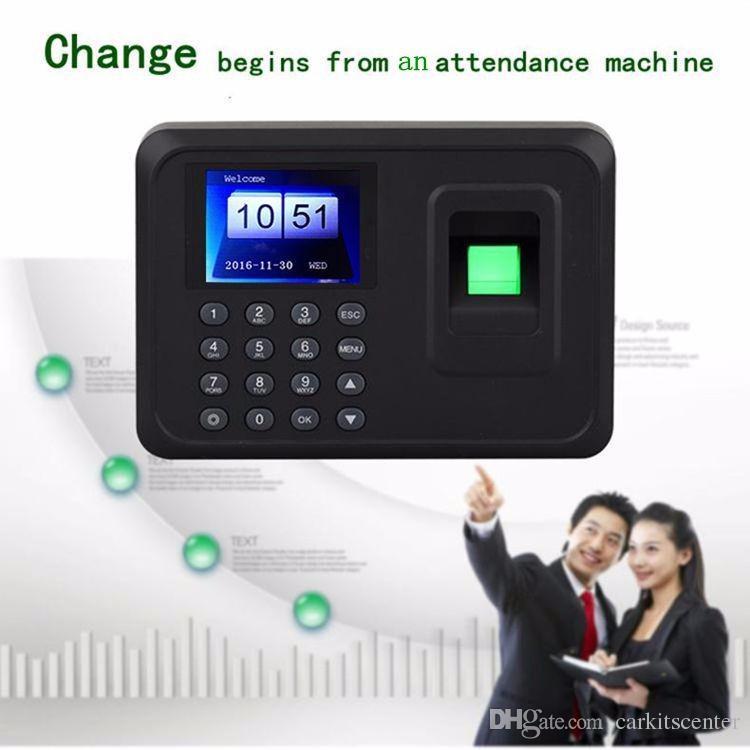 16*16mm F-18C TFT HD Color Screen Fingerprint Attendance Machine  Fingerprint Time Attendance Clock Recorder Employee Office