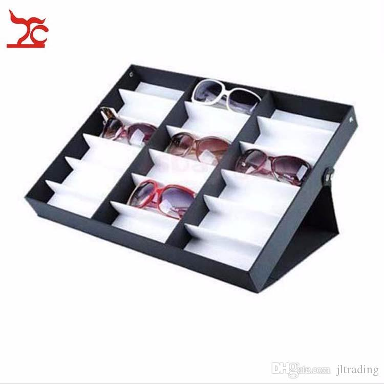 Glasses Storage Display Case Box Eyeglass Sunglasses Optical Display Organizer Frames Spectacles Tray