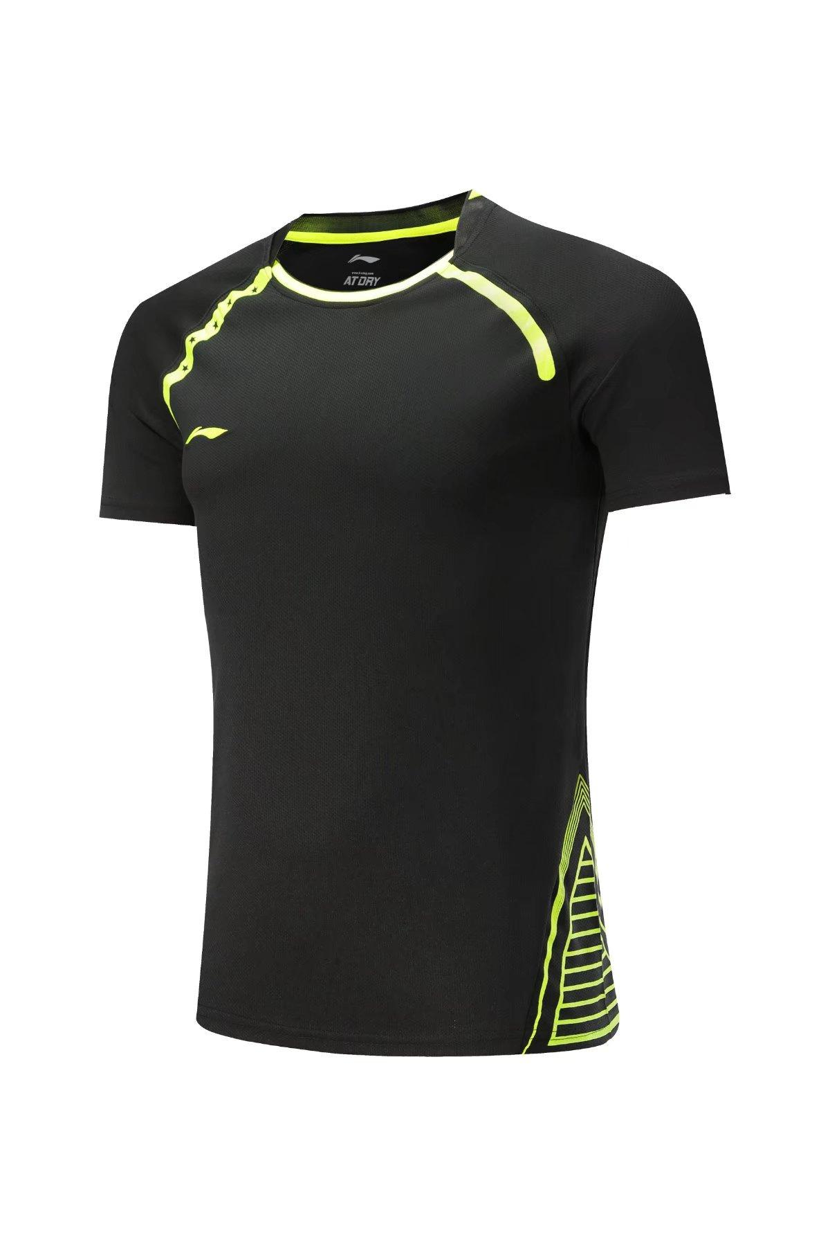 79b62c52d 2019 Li Ning Sport Gym Quick Dry Breathable Soccer Badminton Shirt Jerseys