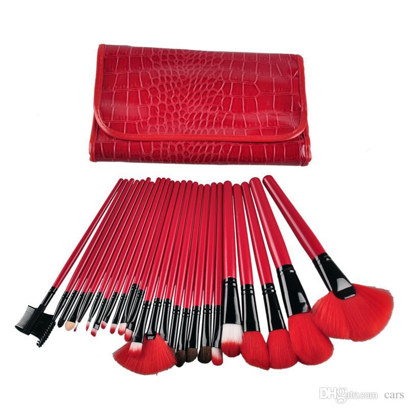 Профессиональный набор кистей для макияжа 24шт Портативная косметическая щетка для макияжа Тени для век с кисточкой для губ 0605053