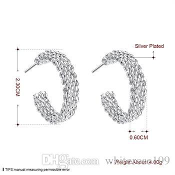 Wholesale - lowest price Christmas gift 925 Sterling Silver Fashion Earrings E082