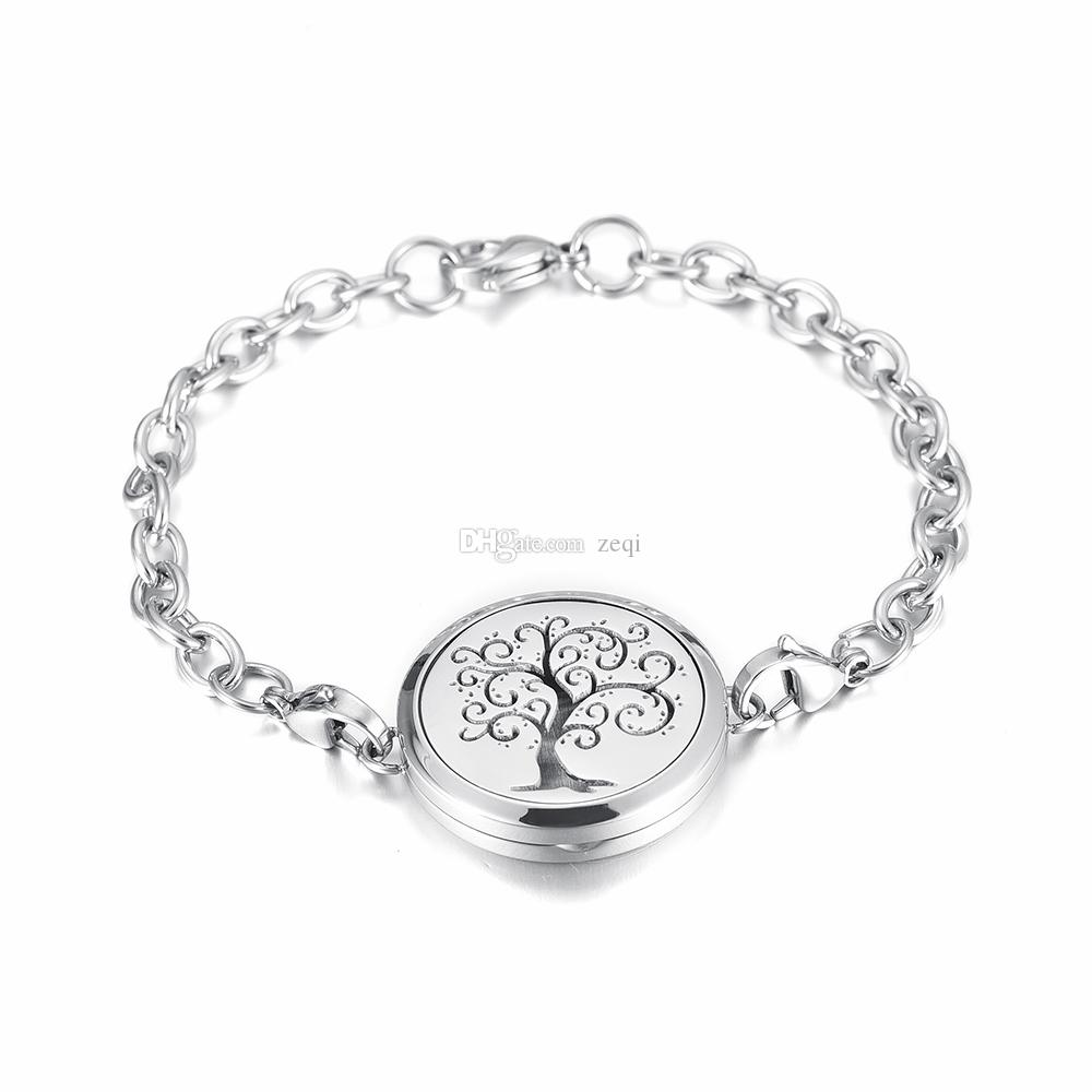 Ijp2001 Stainless Steel Tree Of Life And Lotus Flower Magnet