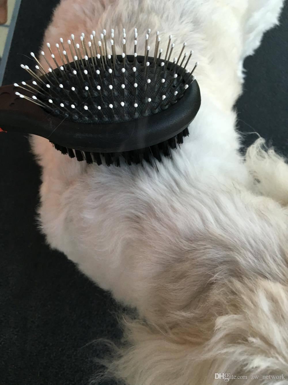 2017 NEUE Hundesalon Pinsel Doppelseite Saubere Massage Hund Pflege Pinsel Bad Produkte für Hunde Katzen