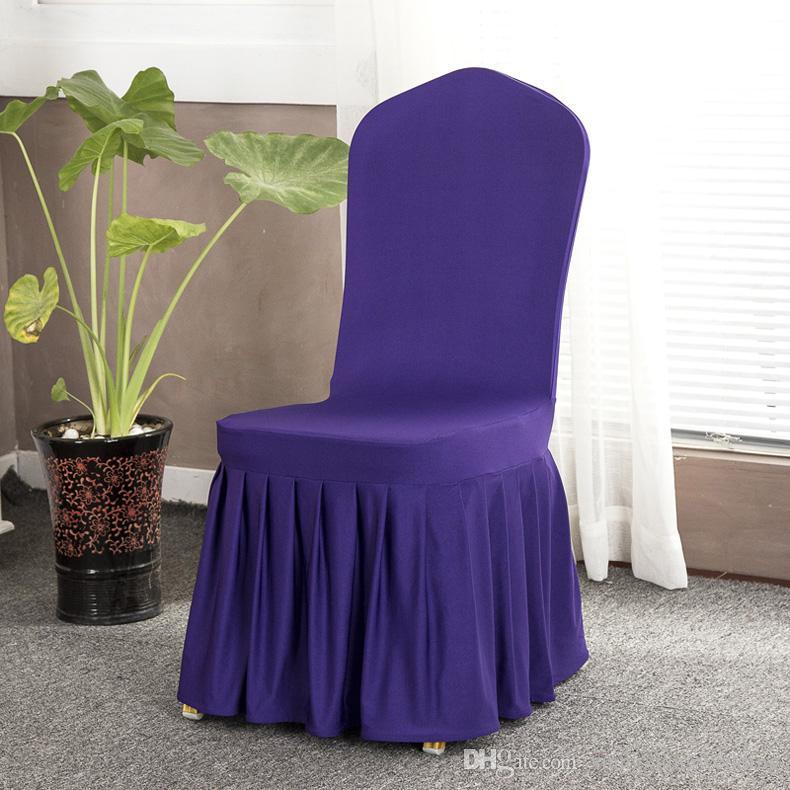 Chaise de mariage couvre la fête décorations de banquet coloré universel spandex couvre longue chaise de mariage