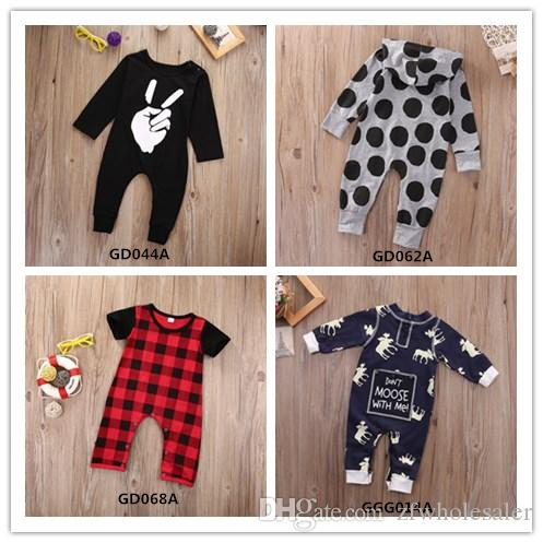a8d97e010645 2019 Baby Boutique Boys Clothes Kid Clothing Baby Romper Suit Legging  Warmer Toddler Outfit Infant Jumpsuit 4 Style Plaid Dot Tiger Bodysuit From  ...