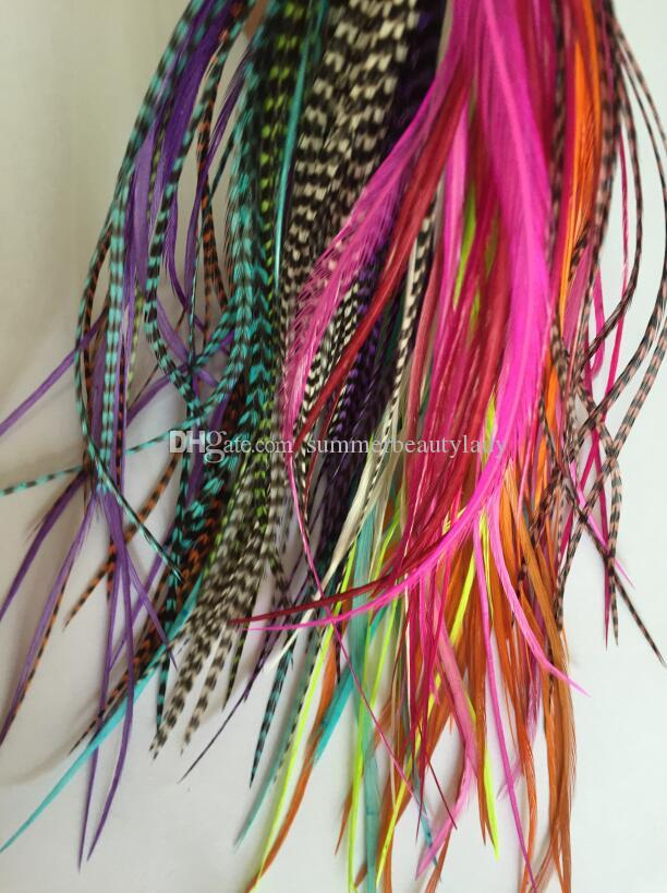 Sexy Sparkles Feather Hair Extensions 100 Real Rooster Feathers