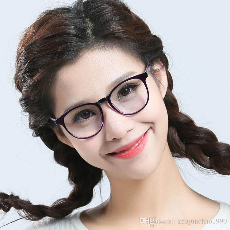 TR90 Eyeglass Frame Large Round Fashionable Ultra-Light Spectacle ...