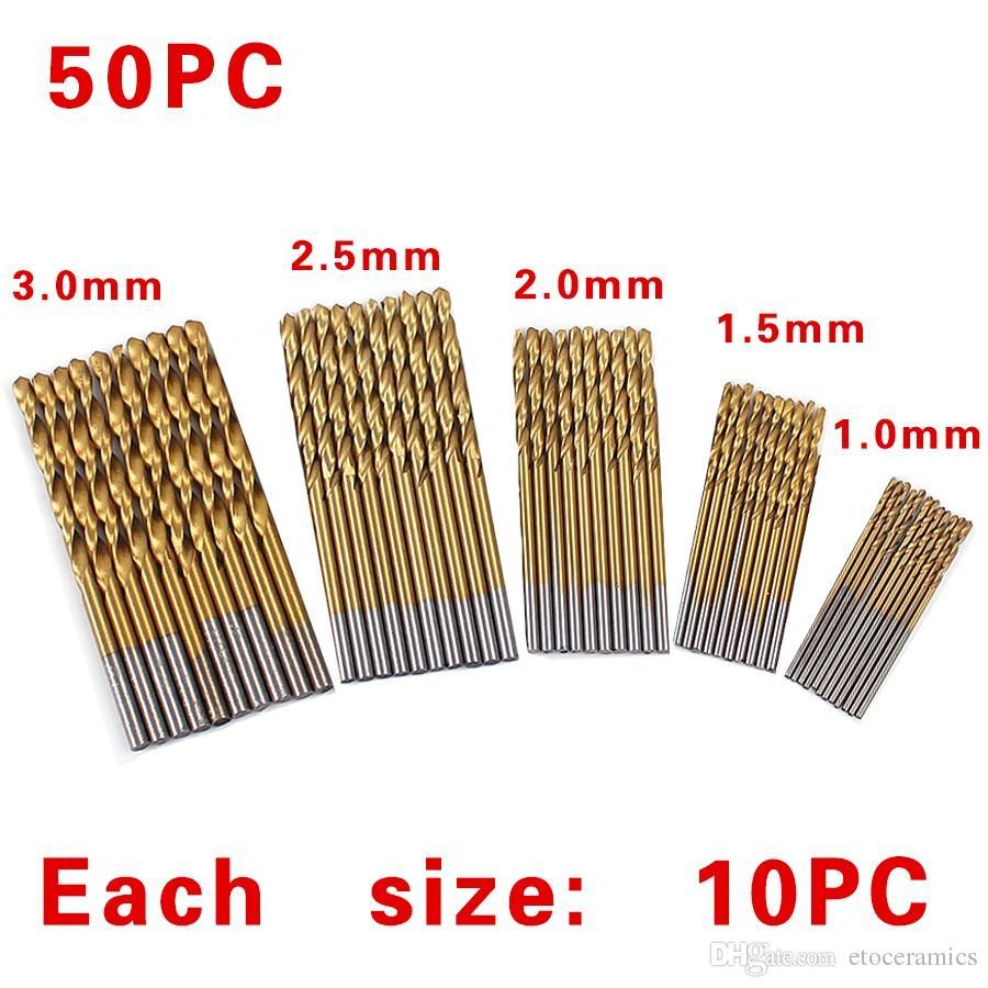 / 세트 트위스트 드릴 비트 세트 톱 세트 HSS 높은 철강 티타늄 코팅 드릴 목공 목재 도구 1 / 1.5 / 2 / 2.5 / 3mm 금속