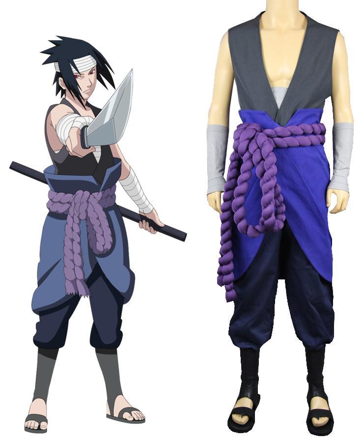 Naruto Shippuden Hebi Organization Uchiha Sasuke Outfit Cosplay