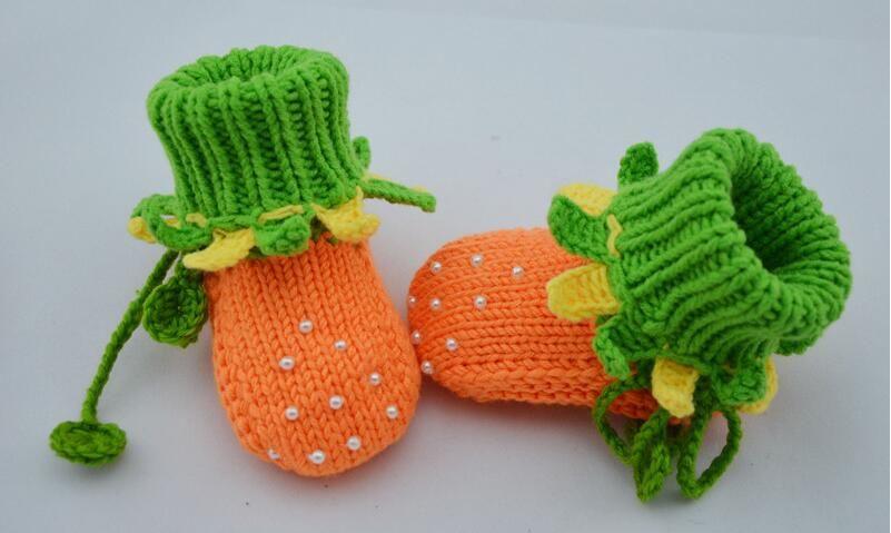 Baby Girls Crochet Beaded Halloween Pumpkin Shoes Newborn Flattie Shoes Toddler Helloyaya Cotton Kids Prewalker First Walker Shoes Booties