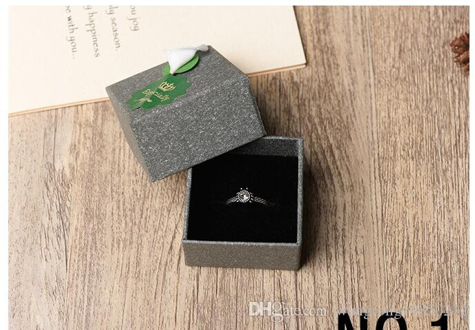 Fashion men gray display packaging gift boxes jewellery box pendant box earrings box brooches corsages packaging