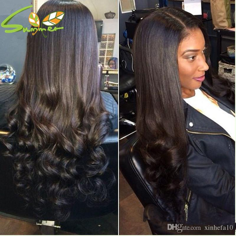 Loose Wave Curly Wigs For African Americans,Virgin Brazilian Human Hair Lace Front Wigs Glueless Full Lace Wigs For Black Women
