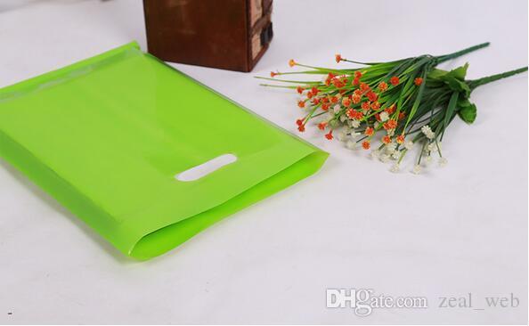 CUSTOM LOGO التسوق مقبض كيس من البلاستيك / هدية كيس من البلاستيك التعبئة لصناعة الملابس / المطبوعة تعزيز حقيبة LOGO 7