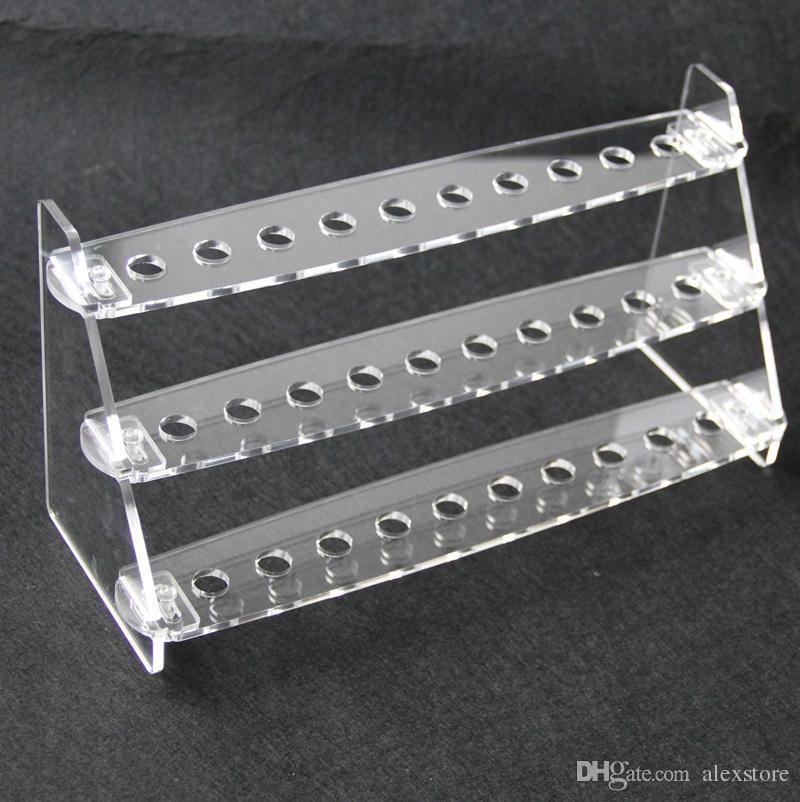 Espositore acrilico base trasparente supporto mensola base vape cremagliera scatola vetrina ecig 510 810 filo punte a goccia tfv8 principe bambino DHL