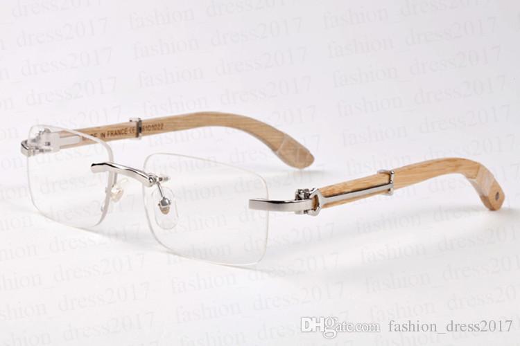 2017 fashion wooden brand designer sunglasses for men polarized buffalo horn glasses rimless half frame red green gray brown square lens