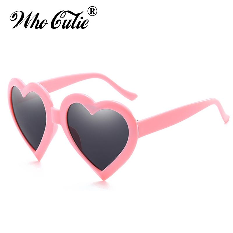 d3c7729df7 WHO CUTIE 2018 Pink Heart Shaped Sunglasses Women Brand Designer Plastic  Love Frame Colorful Lady Sun Glasse Shades Oculos OM472 Designer Glasses  Sunglasses ...