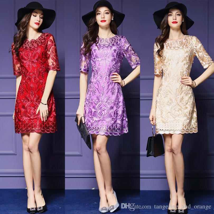 Compre Vestidos De Fiesta De Las Mujeres Formal Purple Beige De Gama ...