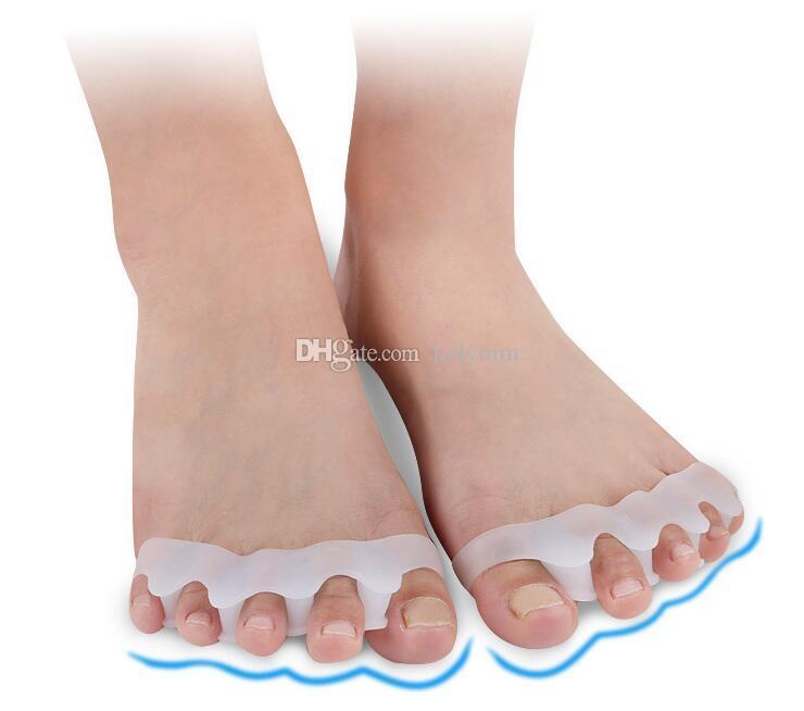 Commercio all'ingrosso di vendita al dettaglio strumento di cura del piede alluce valgo correttore gel silicone borsite correttore toe protector raddrizzatore separatore separatore