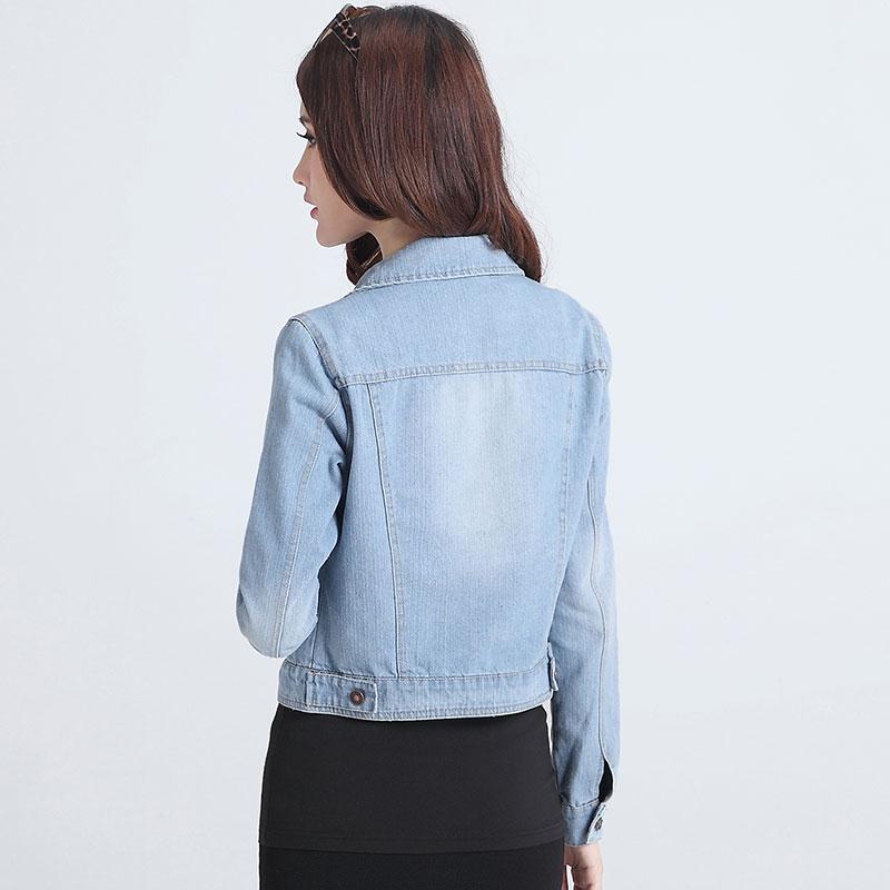 Kadın Ceketler Mont 2017 Yeni Moda Kot Ceketler Denim Kadınlar Ince Pamuk Katı Ceket Kadın Kabanlar Coat Bayanlar Ceket A637