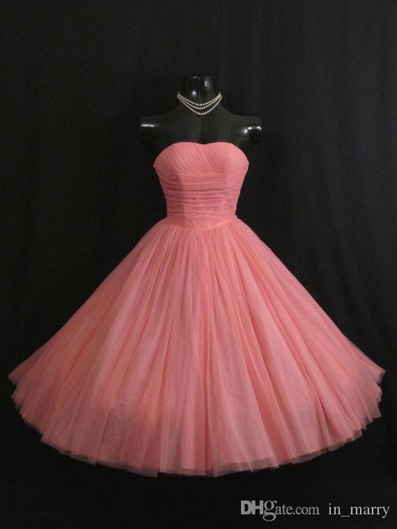 Großhandel 1950\'s 50er Jahre Vintage Prom Kleider Mit Falten Hell ...