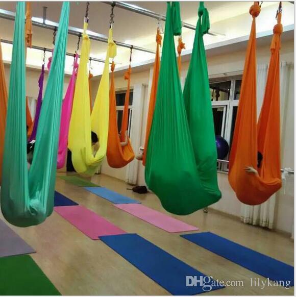 2020 2 8 1m Aerial Yoga Hammock Yoga Stretching Stipes Belts Anti Gravity Yoga Swing Bed Training Fitness Inversion Swing Strap From Dandankang 8 Dhgate Com