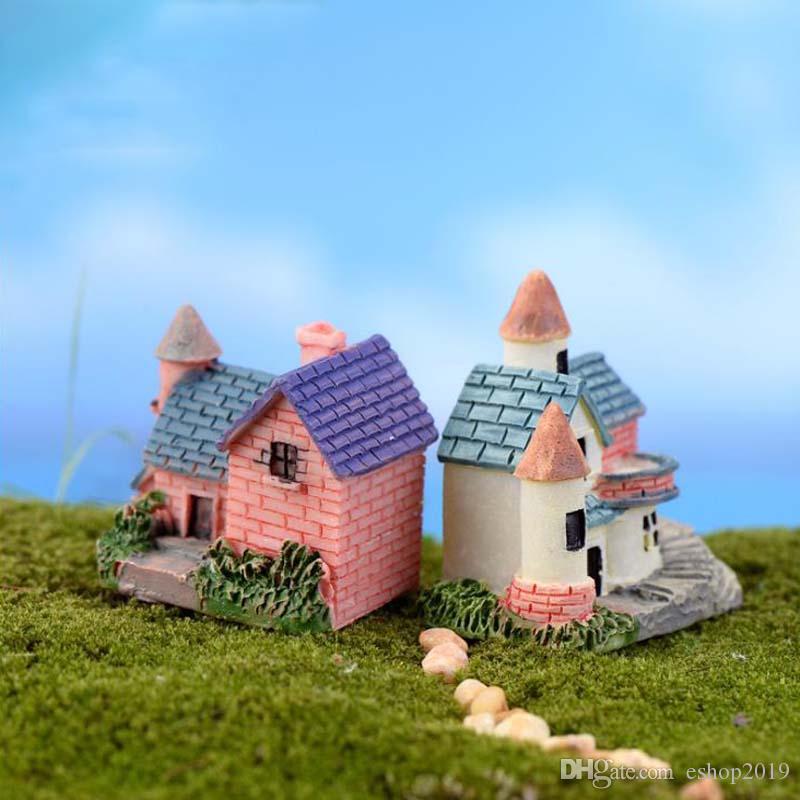 Atacado- House Cottages Mini Craft Miniatura de fadas jardim de casa Decoração Casas Micro Paisagismo Decor DIY Acessórios