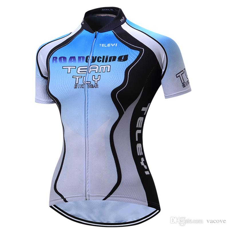 VACOVE Short Sleeves Cycling Clothing Pro Team MTB Bike Jerseys Women Breathable  Ropa Ciclismo Cycling Shirt Polyester Cycling Jerseys PT32 Cycling Jersey  ... 175df132a
