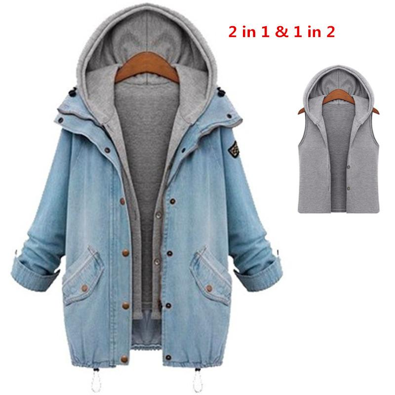 d5346cbbd9b Wholesale Plus Size 4xl Jean Jacket Womens 2016 Fashion Denim Jacket Autumn  Winter Long Sleeve Women Coat Oversized Casual Denim Chaquetas Nice Jackets  ...