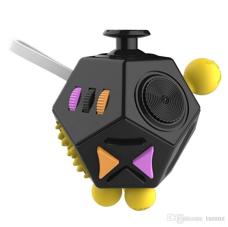 Fidget Spinners Irritabilidad Ansiedad Alivio Reducción de la presión Mágica Cuadrado Foco Fidget Cube Segunda Generación